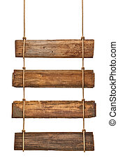 木製である, 印, ロープ, 背景, 掛かること, メッセージ