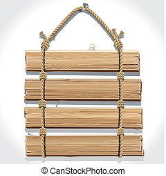 木製である, 印, rope.