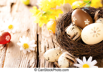 木製である, 卵, イースター, 表面