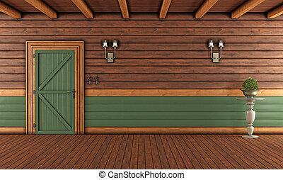 木製である, 反響室, 空, 家