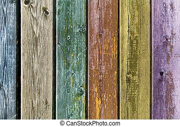 木製である, 古い, カラードの背景, 板