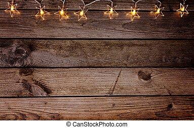 木製である, 古い, クリスマス, 無作法, 背景