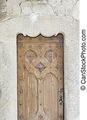 木製である, 古い, ドア, 教会