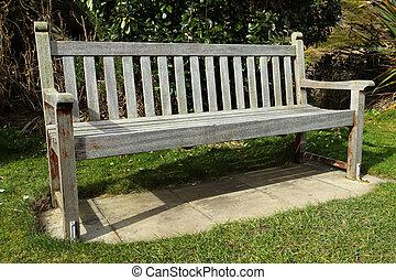木製である, 古い, 公園, bench.