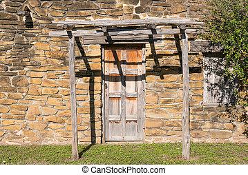 木製である, 古い, 戸口