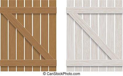 木製である, 古い, 窓口