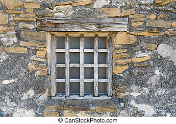 木製である, 古い, 窓