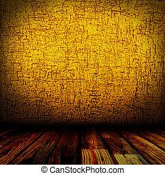 木製である, 古い, 部屋, 床