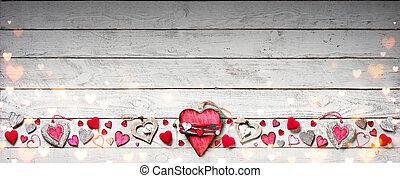 木製である, 型, バレンタイン, 装飾, 日, 板