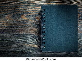 木製である, 型, メモ用紙, らせん状に動きなさい, 黒, 板