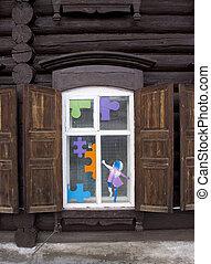 木製である, 型, 窓。