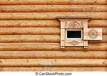 木製である, 型, 窓, 壁