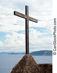 木製である, 城, aragonese, 十字架像