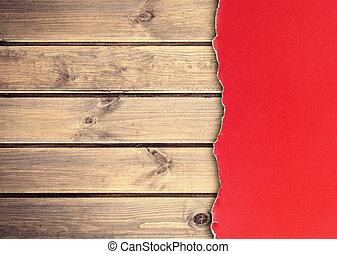 木製である, 壁, ペーパー, グランジ