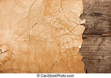 木製である, 壁, ペーパー, グランジ, 背景