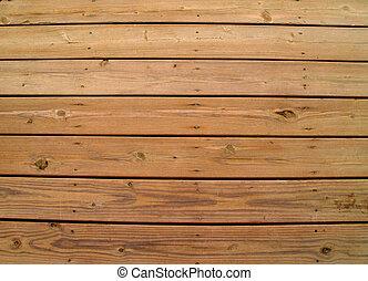 木製である, 外気に当って変化した, デッキ