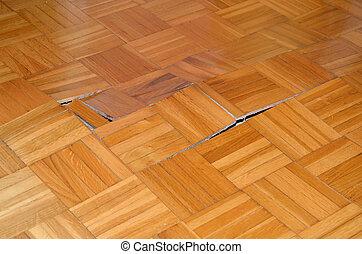 木製である, 始める, 持ち上げなさい, 床