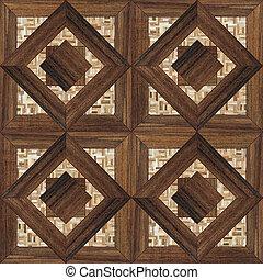 木製である, 寄せ木張りの床