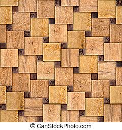 木製である, 寄せ木張りの床, texture., floor., seamless