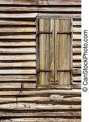 木製である, 小屋, 窓