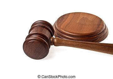 木製である, 小槌, 白, 背景