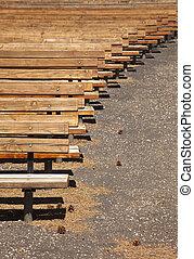木製である, 座席, 屋外, 抽象的, 円形劇場