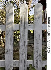 木製である, 庭, フェンス