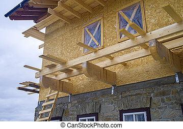 木製である, 建築現場, シャレー