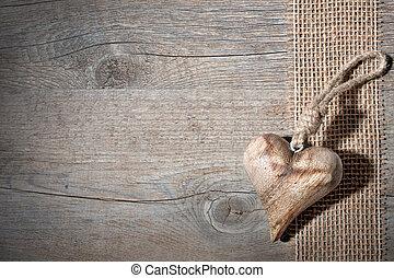 木製である, 心, 刻まれた