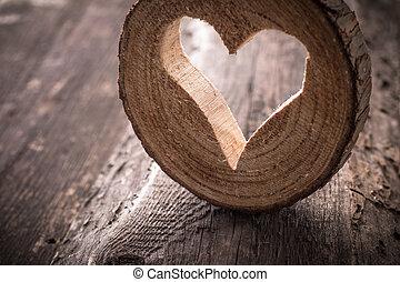 木製である, 心, 無作法, 背景, ライト
