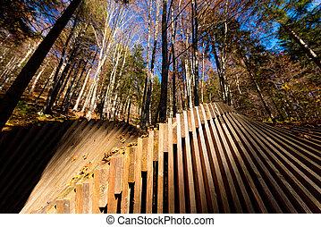 木製である, 抽象的, 森林, 建築