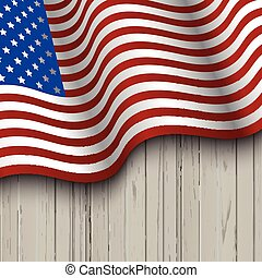 木製である, 旗, アメリカ人, 背景