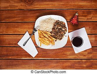 木製である, 昼食, クリスマス, テーブル
