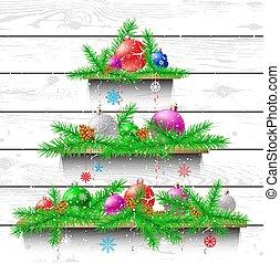 木製である, 木, クリスマス, 棚