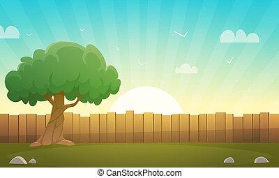 木製である, 木, フェンス