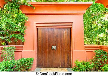 木製である, 木, 壁, ドア