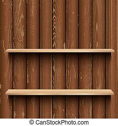 木製である, 木, 店, 背景, ショーケース