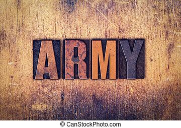 木製である, 概念, タイプ, 凸版印刷, 軍隊