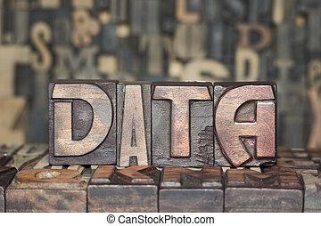 木製である, 概念, データ