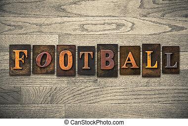 木製である, 概念, 凸版印刷, フットボール