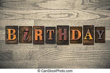 木製である, 概念, 凸版印刷, birthday