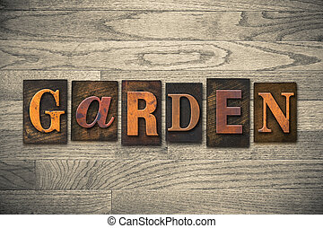 木製である, 概念, 庭, 凸版印刷