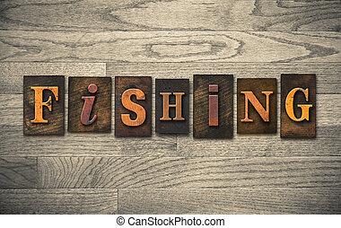 木製である, 概念, 釣り, 凸版印刷