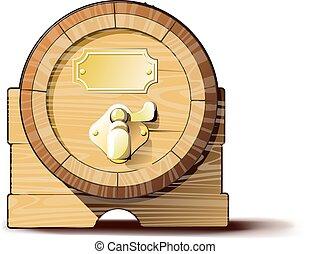 木製である, 樽, 古い