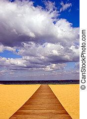 木製である, 浜, 方法