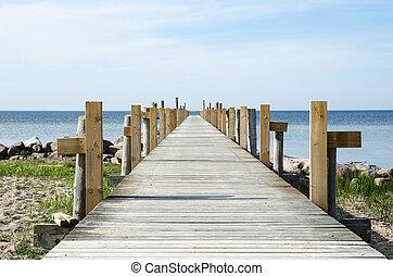 木製である, 浴室, 桟橋, 海岸