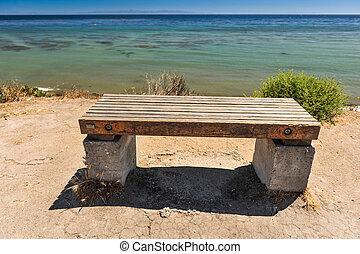 木製である, 海洋, 崖, ベンチ