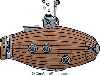 木製である, 潜水艦, 古い