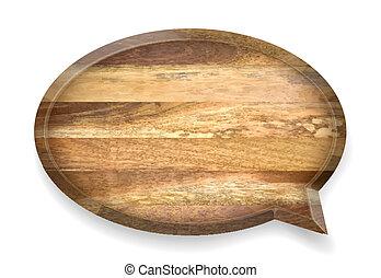木製である, 現実的, 話, bubble.