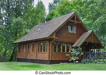 木製である, 田舎の別荘